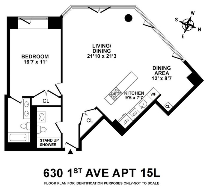 630 First Avenue 15L, Midtown East, NYC, $1,250,000, Web #: 19310970