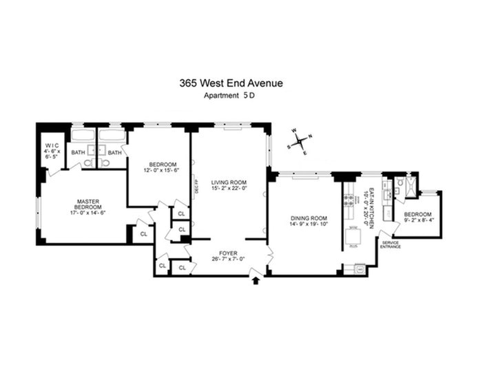 365 West End Avenue 5D, Upper West Side, NYC, $9,500, Web #: 19375610