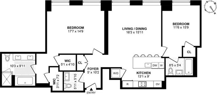 10 Madison Square West 2C, Flatiron/Gramercy Park, NYC, $11,750, Web #: 19378118