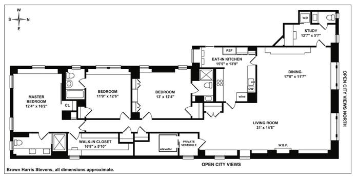 815 Park Avenue 12C, Upper East Side, NYC, $4,400,000, Web #: 19385224