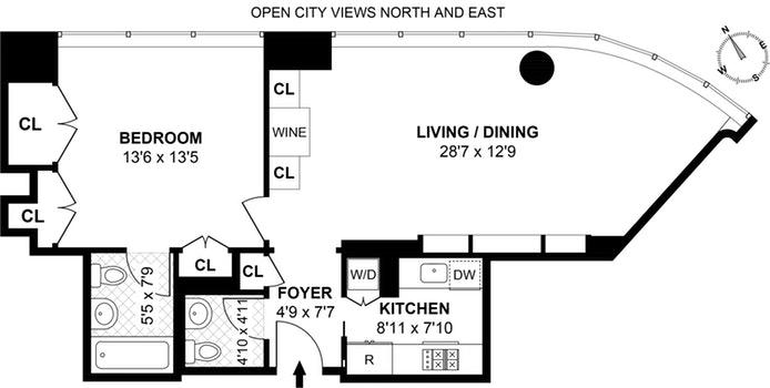 250 East 54th Street 17C, Midtown East, NYC, $4,500, Web #: 19393809
