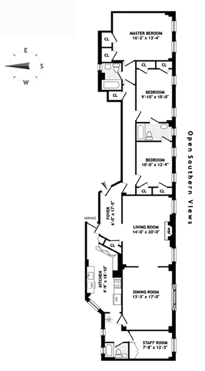 156 East 79th Street 8C, Upper East Side, NYC, $2,050,000, Web #: 19402569