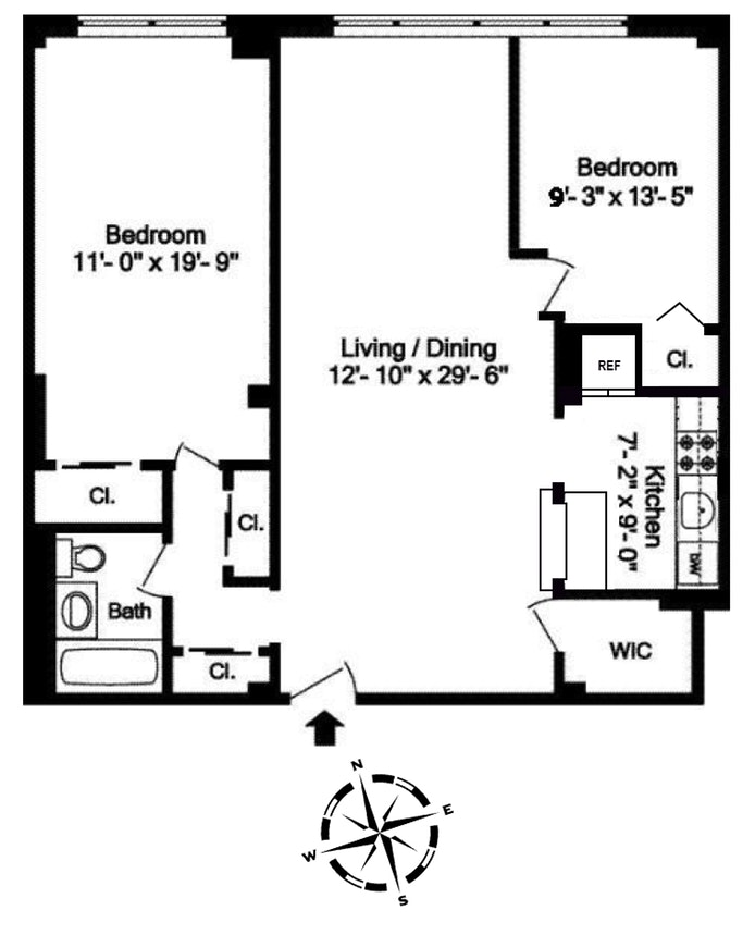 315 East 70th Street 2K, Upper East Side, NYC, $970,000, Web #: 19405400