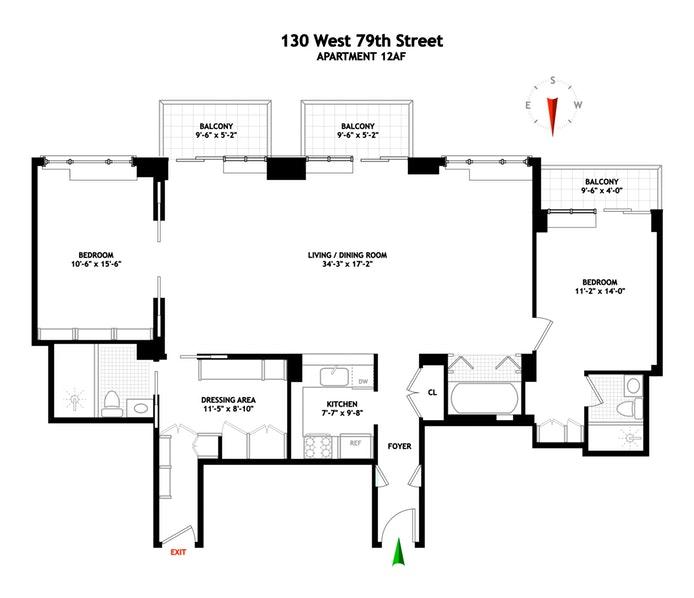 130 West 79th Street 12Af, Upper West Side, NYC, $3,000,000, Web #: 19410064