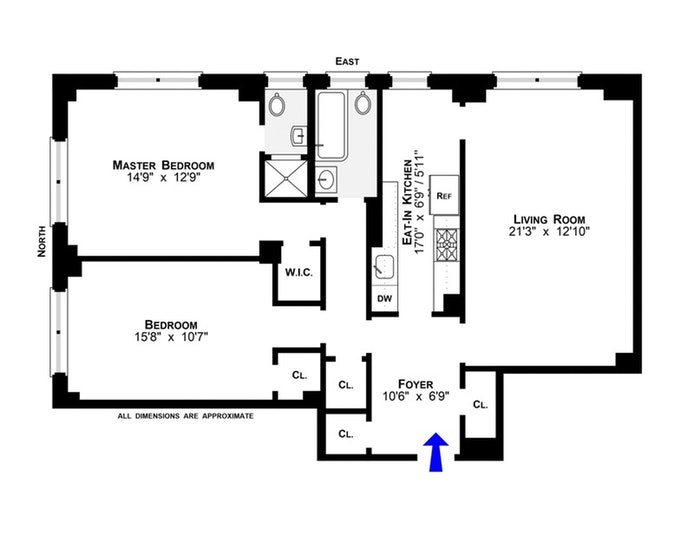 200 West 108th Street 6A, Upper West Side, NYC, $1,000,000, Web #: 19410110