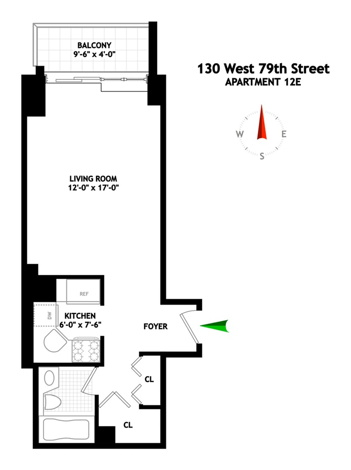 130 West 79th Street 12E, Upper West Side, NYC, $600,000, Web #: 19413930