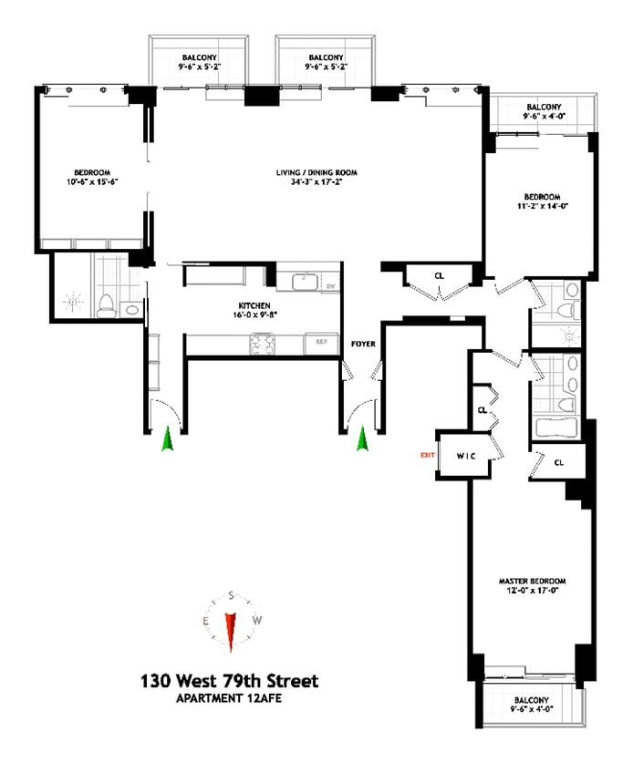 130 West 79th Street 12Aef, Upper West Side, NYC, $3,880,000, Web #: 19419807