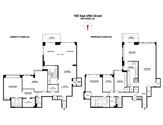 150 East 69th Street Ph/29L, Upper East Side, NYC, $2,900,000, Web #: 19439214