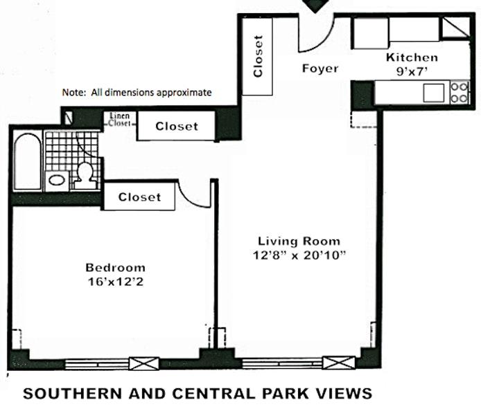 372 Central Park West 19V, Upper West Side, NYC, $3,850, Web #: 19445519