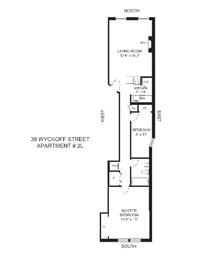 38 Wyckoff Street 2L, Brooklyn, New York, $3,500, Web #: 19455419