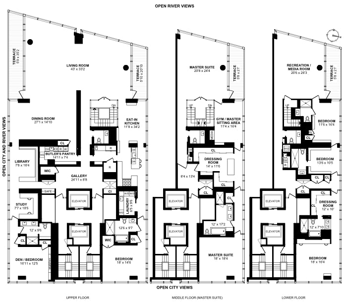 165 Charles Street Triplex, West Village, NYC, $53,000,000, Web #: 19455532