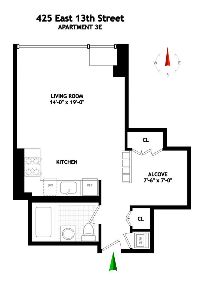 425 East 13th Street 3E, East Village, NYC, $3,350, Web #: 19458193