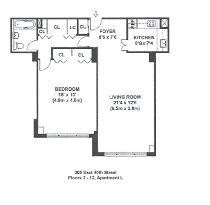305 East 40th Street 9L, Midtown East, NYC, $635,000, Web #: 19461200