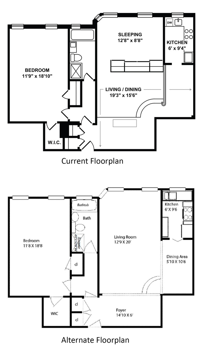 Large One Bedroom Used As A Two, Brooklyn, New York, $870,000, Web #: 19461913