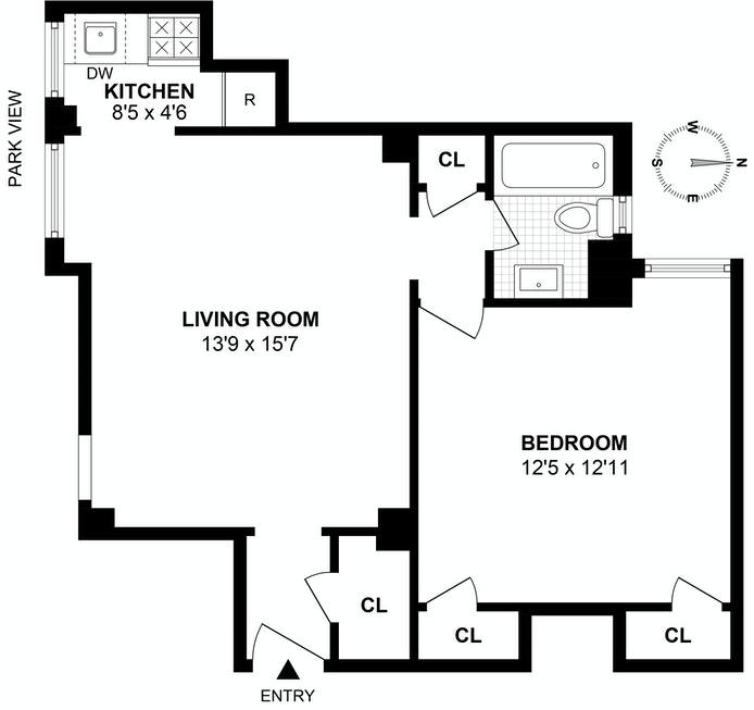 333 East 43rd Street 418, Midtown East, NYC, $549,000, Web #: 19465568