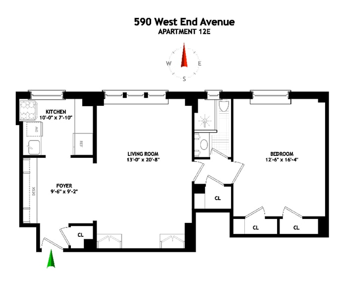 590 West End Avenue 12E, Upper West Side, NYC, $1,050,000, Web #: 19466769