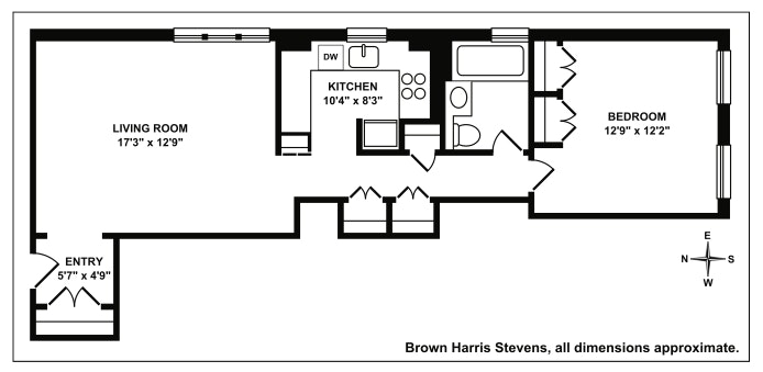 370 Central Park West 306, Upper West Side, NYC, $549,000, Web #: 19478231