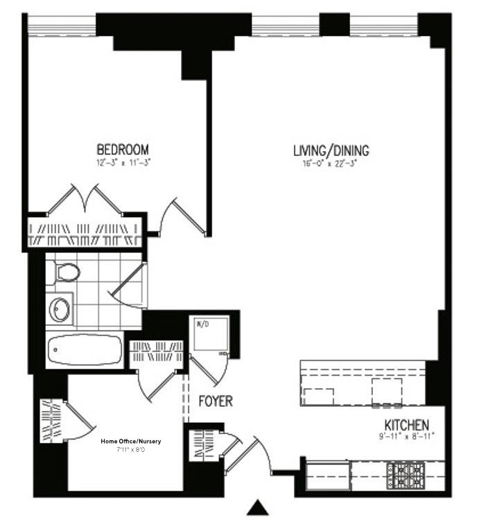 1 Hanson Place 15C, Brooklyn, New York, $4,300, Web #: 19480370