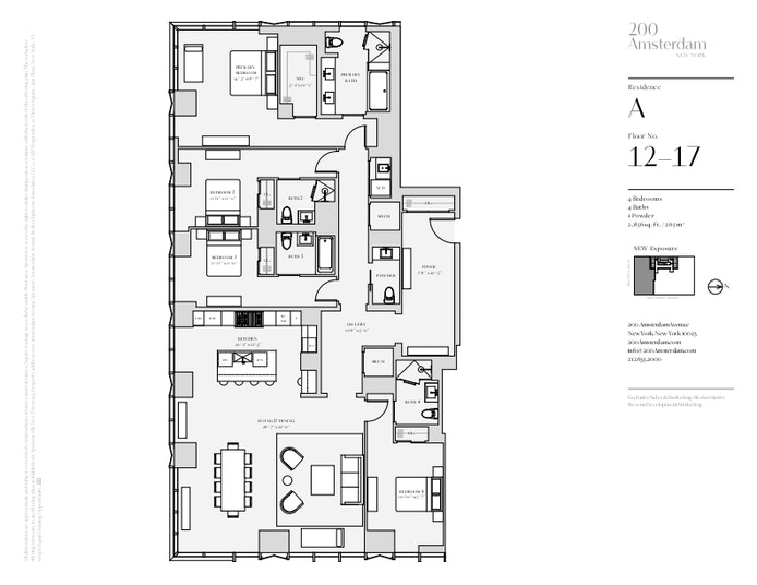 200 Amsterdam Avenue 12A, Upper West Side, NYC, $7,300,000, Web #: 19483305