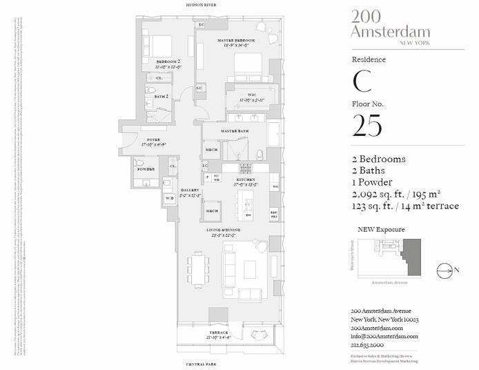 200 Amsterdam Avenue 25C, Upper West Side, NYC, $6,800,000, Web #: 19483358