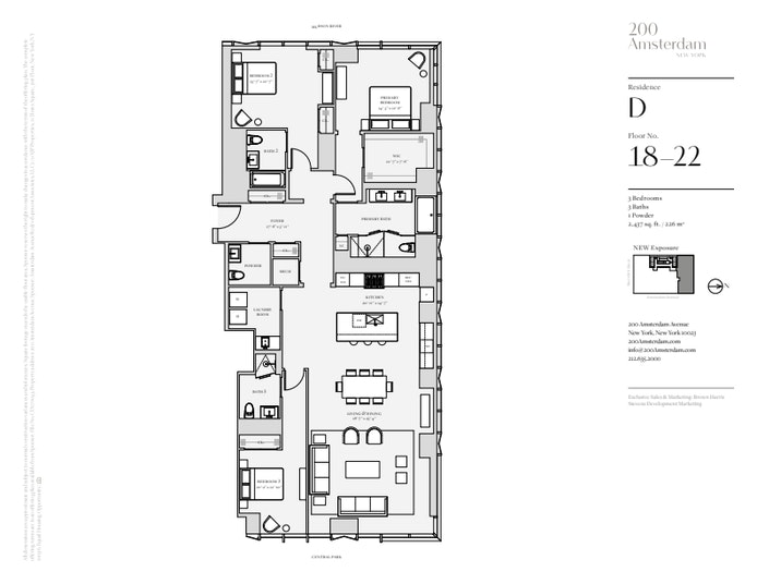 200 Amsterdam Avenue 19D, Upper West Side, NYC, $6,925,000, Web #: 19483433