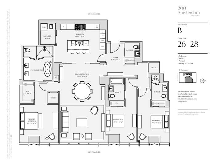 200 Amsterdam Avenue 26B, Upper West Side, NYC, $6,780,000, Web #: 19483439