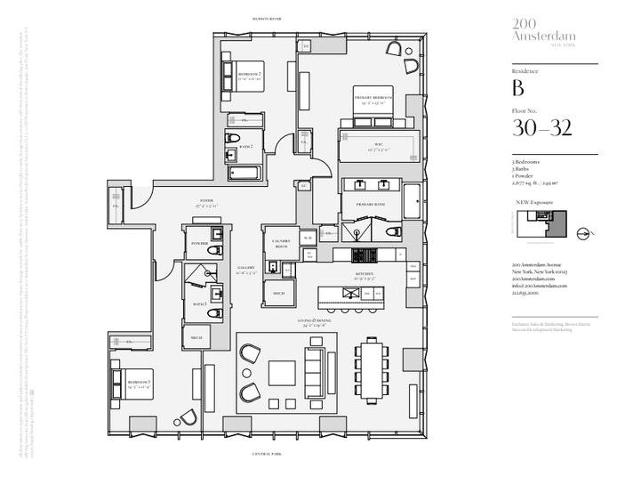 200 Amsterdam Avenue 32B, Upper West Side, NYC, $9,800,000, Web #: 19483472