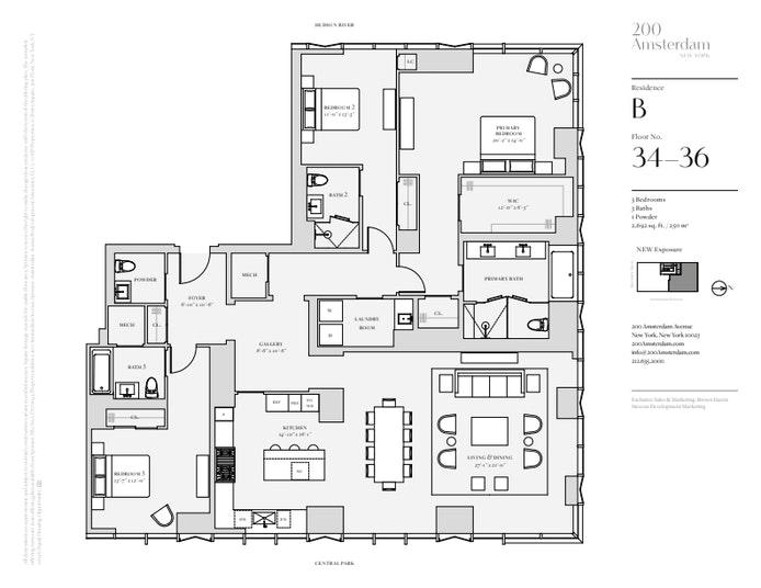 200 Amsterdam Avenue 34B, Upper West Side, NYC, $10,600,000, Web #: 19483474