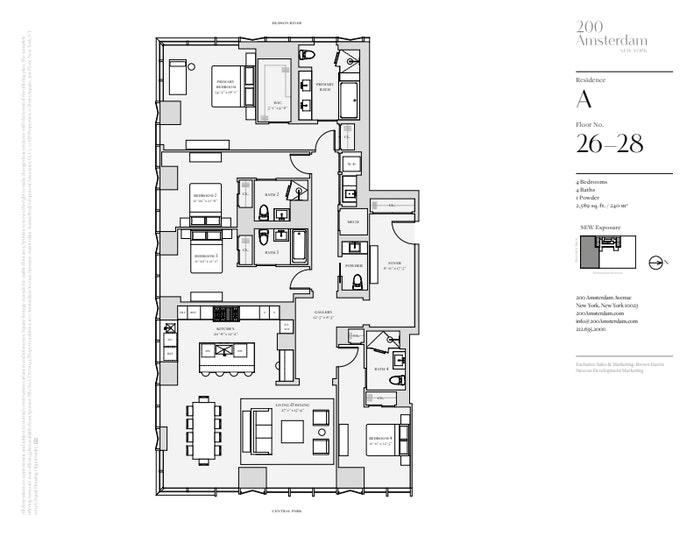 200 Amsterdam Avenue 26A, Upper West Side, NYC, $8,800,000, Web #: 19483564
