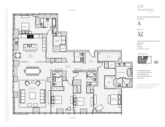 200 Amsterdam Avenue 32A, Upper West Side, NYC, $12,290,000, Web #: 19483569