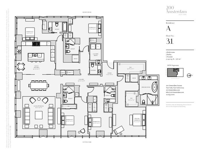 200 Amsterdam Avenue 31A, Upper West Side, NYC, $15,950,000, Web #: 19483605