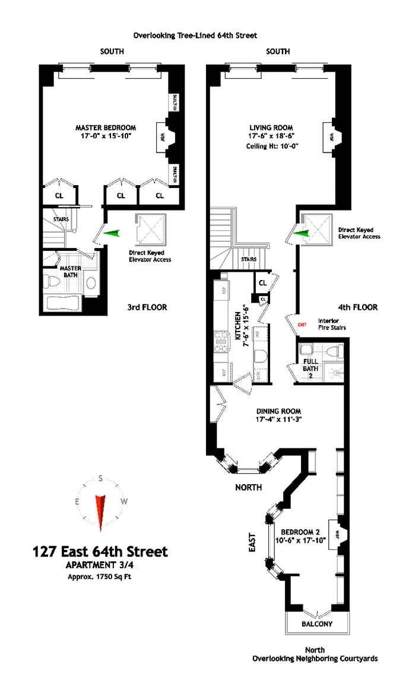 127 East 64th Street 3/4, Upper East Side, NYC, $25,000, Web #: 19490946