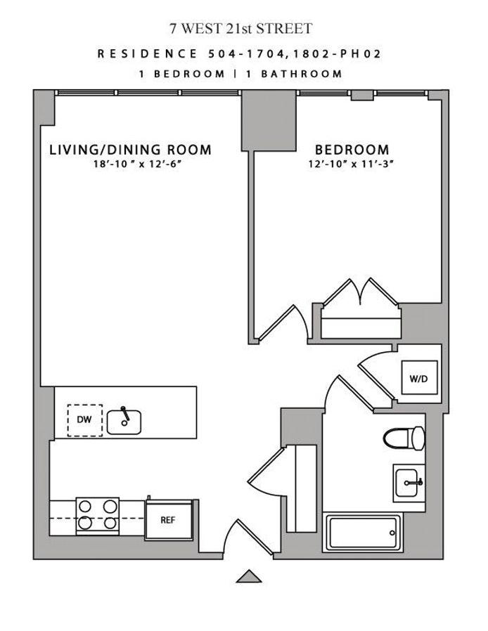 7 West 21st Street 704, Flatiron/Gramercy Park, NYC, $5,690, Web #: 19500329