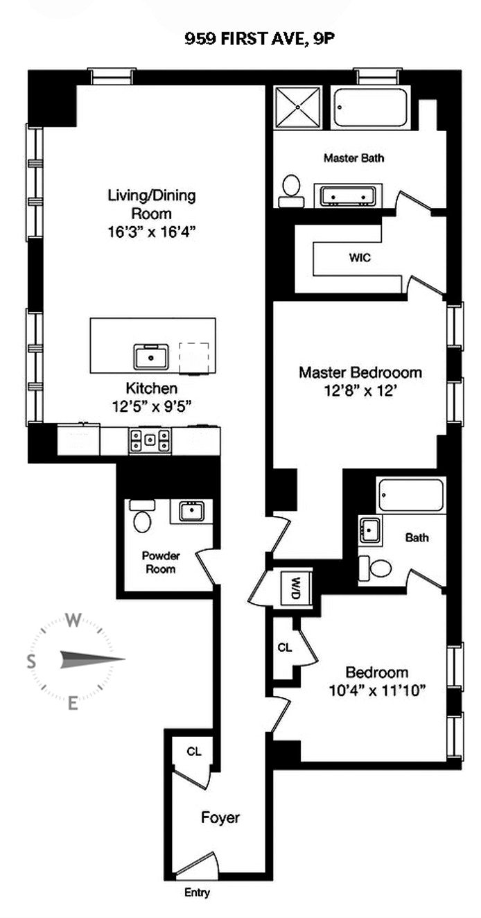 959 First Avenue 9P, Midtown East, NYC, $1,995,000, Web #: 19500856