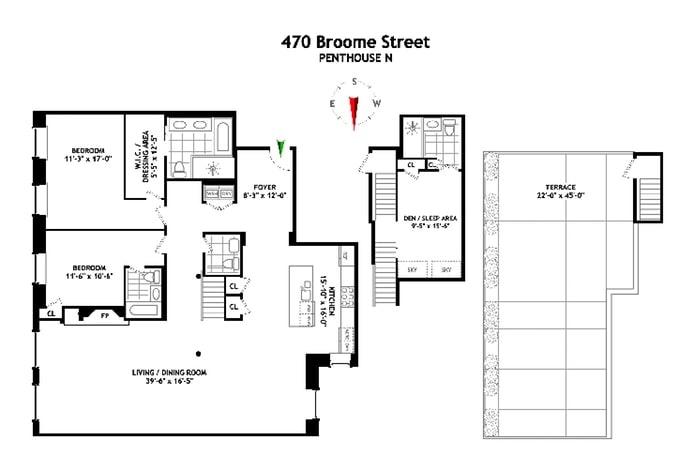 470 Broome Street Phn, Soho, NYC, $20,000, Web #: 19516314
