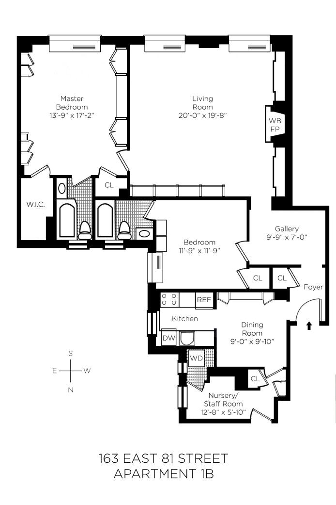 163 East 81st Street 1B, Upper East Side, NYC, $1,633,500, Web #: 19517566