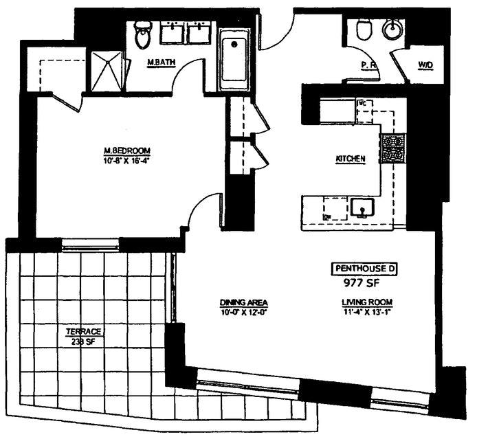462 West 58th Street Phd, Midtown West, NYC, $1,550,000, Web #: 19518130
