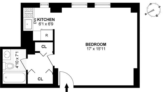 104 West 70th Street 3E, Upper West Side, NYC, $2,600, Web #: 19528701