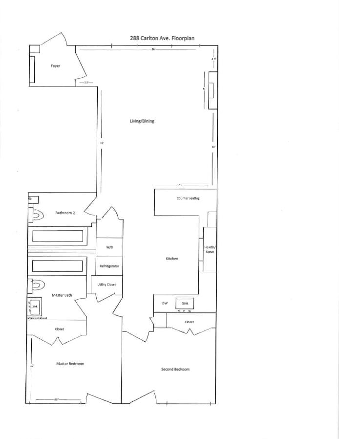 288 Carlton Avenue 1, Brooklyn, New York, $4,500, Web #: 19534772