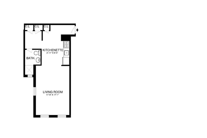 441 Convent Avenue 4L, Morningside Heights/Harlem, NYC, $1,850, Web #: 19540336