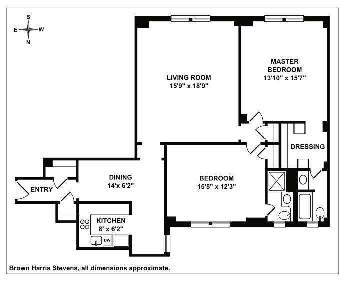 425 East 51st Street 5C, Midtown East, NYC, $1,050,000, Web #: 19547679