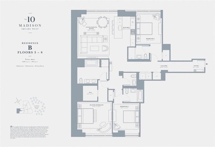10 Madison Square West 4B, Flatiron/Gramercy Park, NYC, $17,000, Web #: 19559110