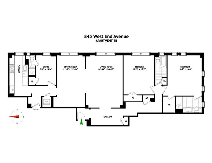 845 West End Avenue 3B, Upper West Side, NYC, $2,575,000, Web #: 19565144