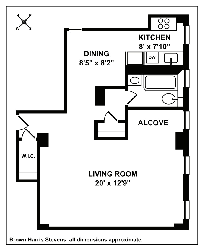 201 West 89th Street 6A, Upper West Side, NYC, $520,000, Web #: 19577968