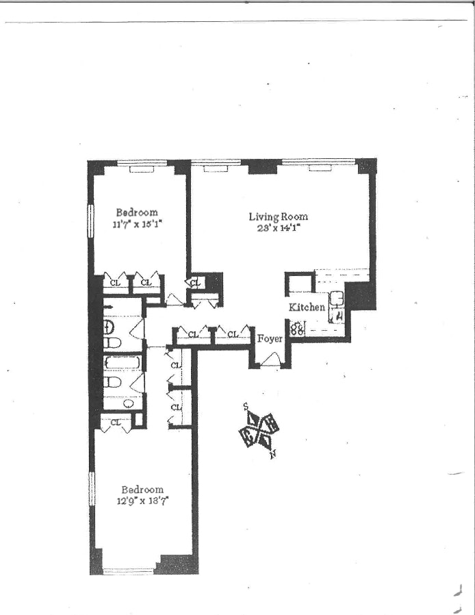 30 West 61st Street 10A, Upper West Side, NYC, $1,600,000, Web #: 19578648