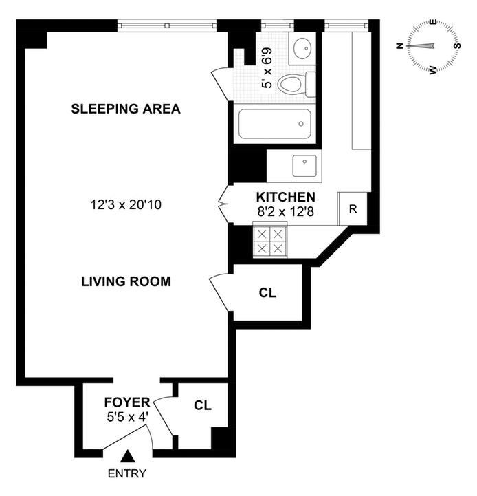 245 East 72nd Street 8D, Upper East Side, NYC, $380,000, Web #: 19587889