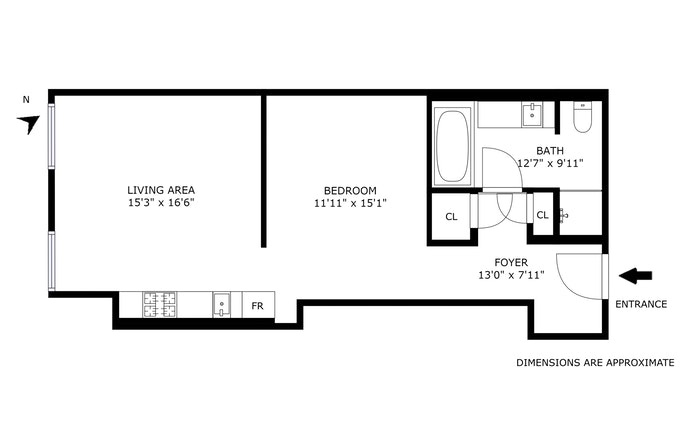 20 Pine Street 712, Financial District, NYC, $825,000, Web #: 19590106