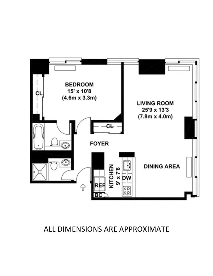 300 East 85th Street 606, Upper East Side, NYC, $895,000, Web #: 19592642