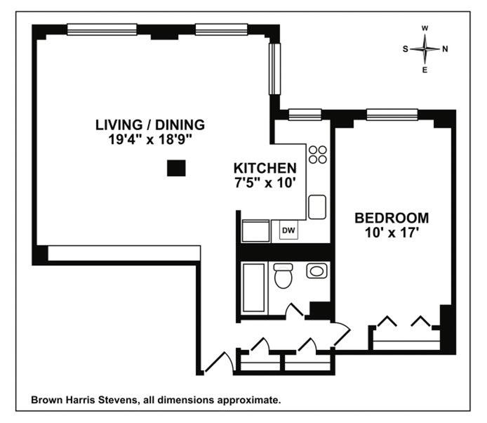 345 Clinton Avenue 14E, Brooklyn, New York, $712,500, Web #: 19594322