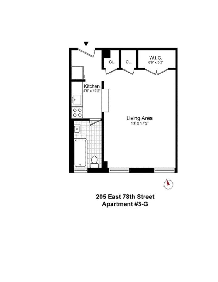 205 East 78th Street 3G, Upper East Side, NYC, $360,000, Web #: 19603416